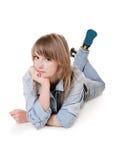 Das Mädchen - Jugendlicher im Studio Stockfotografie