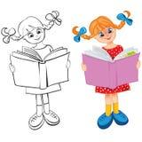 Das Mädchen liest das Buch vektor abbildung