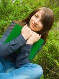 Das Mädchen mit Buch lizenzfreie stockfotografie