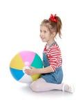 Das Mädchen mit dem Ball Stockbilder