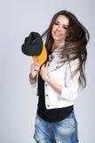 Das Mädchen mit dem Hut Lizenzfreie Stockbilder