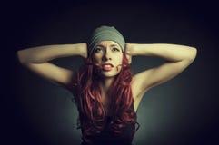 das Mädchen mit dem roten Haar Stockfotos