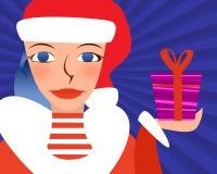 Das Mädchen mit einem Geschenk Stockfoto