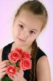 Das Mädchen mit einer Rose Lizenzfreies Stockbild