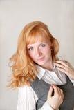 Das Mädchen mit Freckles Lizenzfreies Stockbild