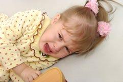Das Mädchen schreit Stockfotos