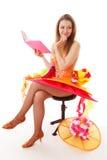 Das Mädchen und das Buch Lizenzfreie Stockbilder