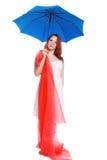 Das Mädchen und der Regenschirm Stockfotografie