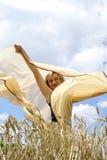 Das Mädchen und ein Wind Lizenzfreies Stockbild