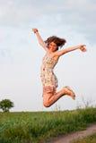 Das Mädchenspringen Lizenzfreies Stockbild