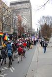 Das ` März Asheville NC der Frauen Lizenzfreies Stockfoto