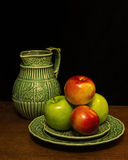 Das maçãs vida ainda foto de stock royalty free