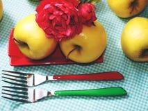 Das maçãs vida ainda Fotos de Stock