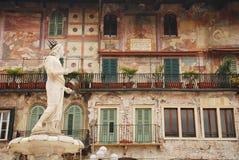 Das Madonna Verona, Marktplatz Delle Erbe Stockbild