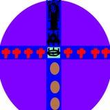 Das magische purpurrote Ei, das um Sie sich kümmert lizenzfreie abbildung