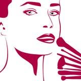 Das Make-up der Frau Lizenzfreies Stockfoto