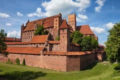 Das Malbork-Schloss Stockbilder