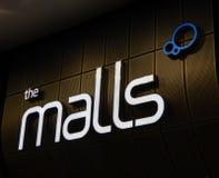 Das Mall-Zeichen Lizenzfreie Stockbilder