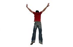 Das Mann-Springen Stockfoto