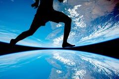 das Mannathletenlaufen Lizenzfreies Stockfoto