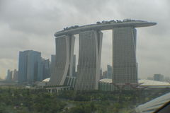 Das Marina Bay Sands-Hotel Stockfotografie