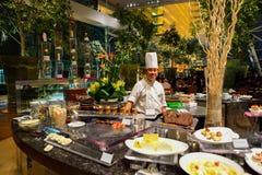 Das Marina Bay Sands-Hotel stockbild