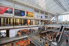 Das Marina Bay Sands-Mall in Singapur Stockbild