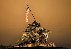 Das Marineinfanteriekorps-Krieg-Denkmal-Washington DC stockfoto