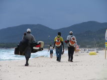 Das marokkanische Strandsystem ist geschlossen Lizenzfreie Stockfotos