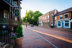 Das Maryland-Gasthaus und -gebäude entlang Main Street, im Stadtzentrum Lizenzfreie Stockbilder