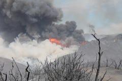Das Maschinenhaus-Feuer | 2013 | enorme Plume Of Smoke  Stockfotografie