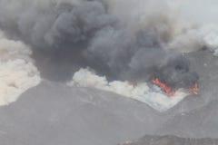 Das Maschinenhaus-Feuer | 2013 | Rauch u. Feuer Lizenzfreie Stockfotos