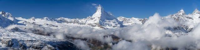 Das Matterhorn-Panorama Lizenzfreies Stockfoto