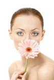 Das Mädchen als Blume Stockfotos