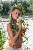 Das Mädchen im Wasser Stockbild