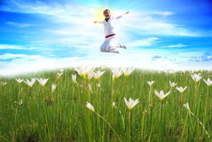 Das Mädchen-Springen Lizenzfreies Stockbild