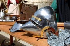 Das Medival adelt Sturzhelm in Mdina Stockfoto