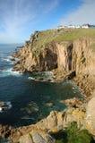 Das Meer um Land ` s Endenklippen, Cornwall Stockbild