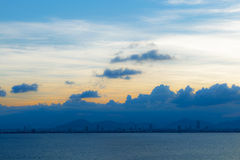 Das Meer und der Himmel Stockbild