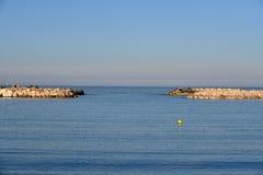 Das Meer und der Horizont Stockfotografie