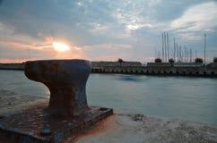 Das Meer vom Pier Lizenzfreie Stockfotografie
