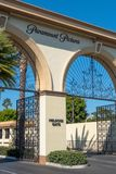 Das Melrose-Tor an Paramount Pictures-Gesellschaft stockbild