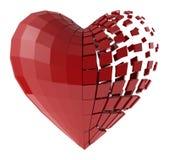Das menschliche Herz der Segmente Stock Abbildung