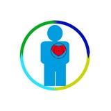Das menschliche Herz gefährdet Stockbild