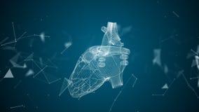 Das menschliche Herz wird gebildet, indem man Partikel spinnt lizenzfreie abbildung