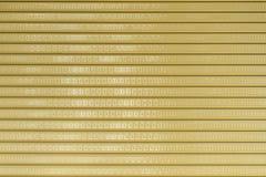 Das metallische Muster des industriellen Tors Lizenzfreie Stockfotografie
