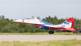 Das MiG-29 landet Stockfotografie