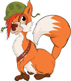 Das Militäreichhörnchen. Karikatur Stockfotografie