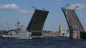 Das Minensuchboot 'Pavel Khenov-'Projekt 1265 'Yakhont ' St Petersburg stock footage