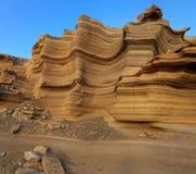 Das Miozän betreffende Kalksteine des seichten Gewässers von Sao Nicolau-Insel, Kap-Verde Stockfoto